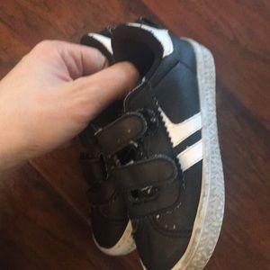 Black and white koala kids boy shoes